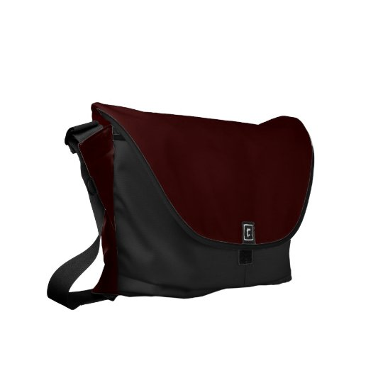 Dark Black Chocolate Sinfully Rich 330000 Commuter Courier Bag
