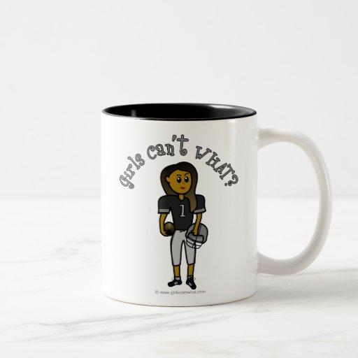 Dark Black Football Coffee Mugs