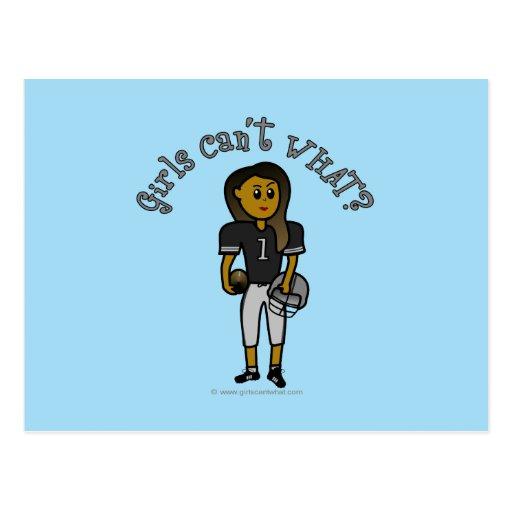 Dark Black Football Postcards