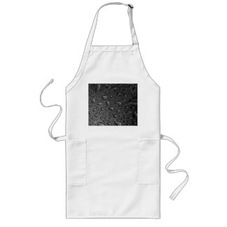 Dark Black Water Droplets Textured Design Long Apron
