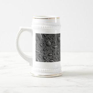 Dark Black Water Droplets Textured Design Beer Stein