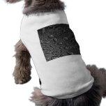 Dark Black Water Droplets Textured Design Dog Tee Shirt