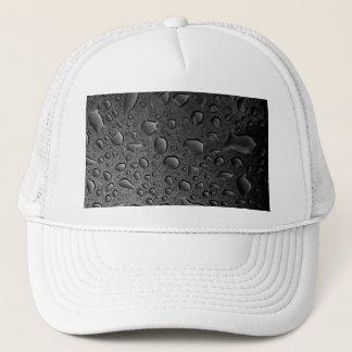 Dark Black Water Droplets Textured Design Trucker Hat