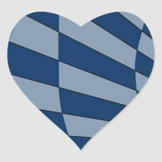 Dark Bliue Design Heart Sticker