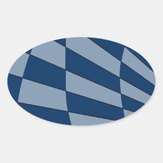 Dark Bliue Design Oval Sticker