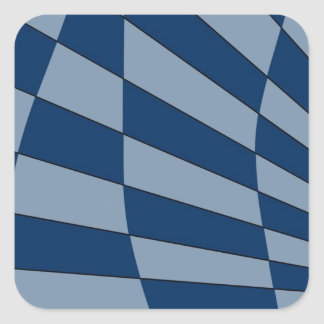 Dark Bliue Design Square Sticker