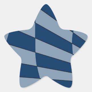 Dark Bliue Design Star Sticker