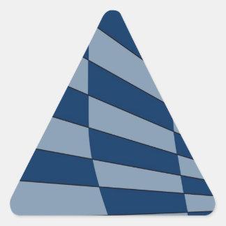 Dark Bliue Design Triangle Sticker