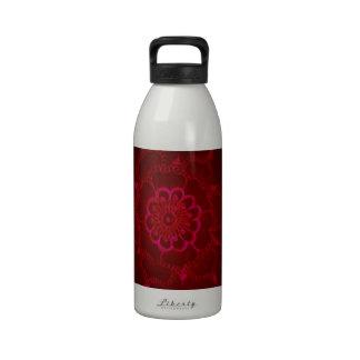 Dark Blood Mehndi Reusable Water Bottle