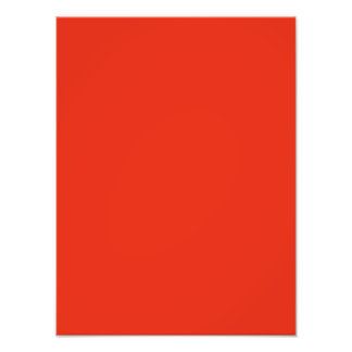Dark Blood Orange Color Trend Blank Template Photo Print