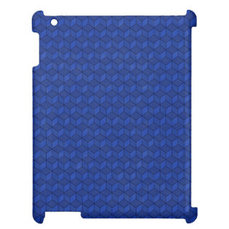 Dark Blue 3D cubes cascading Case For The iPad 2 3 4