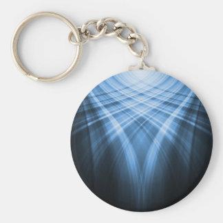 Dark Blue Abstract Art Keychain