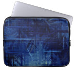 Dark Blue Abstract Art Painting 2 Laptop Sleeves