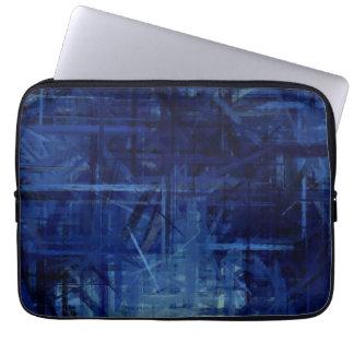 Dark Blue Abstract Art Painting 2 Laptop Sleeves