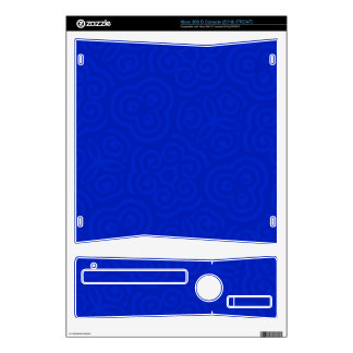 Dark Blue Abstract Pattern Decal For Xbox 360 S