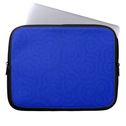 Dark Blue Abstract Pattern Laptop Computer Sleeve
