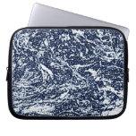Dark Blue Abstract Pattern Laptop Sleeve