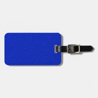 Dark Blue Abstract Pattern Tags For Bags