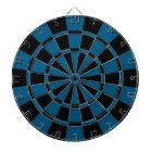 Dark Blue And Black Dartboard With Darts