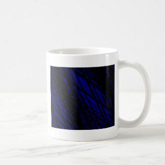 Dark Blue and Black Slanted Lines , Rhombus Mugs