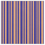 [ Thumbnail: Dark Blue and Brown Colored Pattern Fabric ]