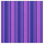 [ Thumbnail: Dark Blue and Dark Orchid Lines Pattern Fabric ]
