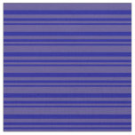 [ Thumbnail: Dark Blue and Dark Slate Blue Colored Stripes Fabric ]