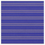 [ Thumbnail: Dark Blue and Dark Slate Blue Stripes Fabric ]