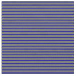 [ Thumbnail: Dark Blue and Dim Grey Lined/Striped Pattern Fabric ]