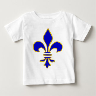 Dark blue  and gold fleur de lis baby T-Shirt