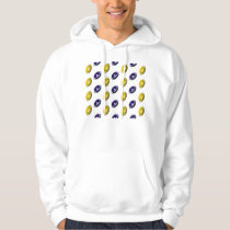 Dark Blue and Gold Football Pattern Hoodie
