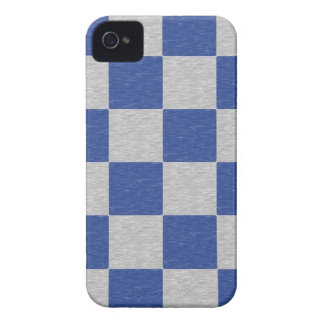 Dark Blue and Gray Checkered iPhone 4 Case