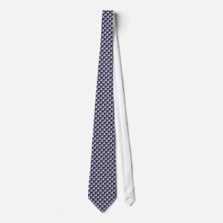 Dark Blue and Gray With Pink Triangles Tie