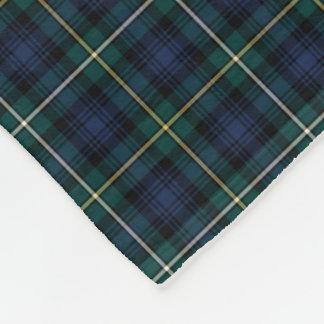 Dark Blue and Green Campbell Clan Tartan Fleece Blanket