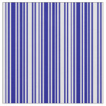 [ Thumbnail: Dark Blue and Lavender Colored Lines Fabric ]