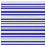 [ Thumbnail: Dark Blue and Lavender Lines/Stripes Pattern Fabric ]