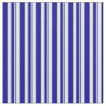 [ Thumbnail: Dark Blue and Lavender Striped/Lined Pattern Fabric ]