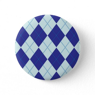 Dark Blue and Light Blue Argyle Pattern Pins by fantasian angel