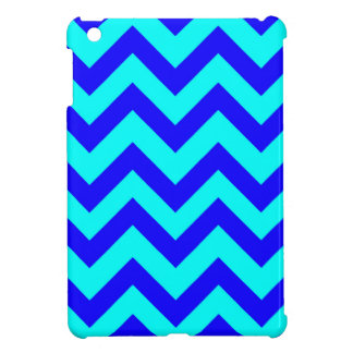 Dark Blue And Light Blue Chevrons iPad Mini Case