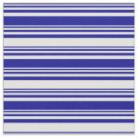 [ Thumbnail: Dark Blue and Light Cyan Colored Stripes Pattern Fabric ]