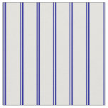[ Thumbnail: Dark Blue and Light Cyan Stripes Fabric ]