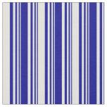 [ Thumbnail: Dark Blue and Light Cyan Stripes Pattern Fabric ]