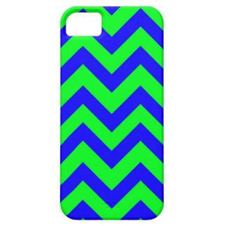 Dark Blue And Light Green Chevrons iPhone SE/5/5s Case