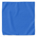 [ Thumbnail: Dark Blue and Lighter Blue Stripes Pattern Bandana ]