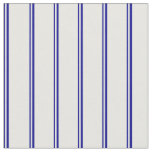 [ Thumbnail: Dark Blue and Mint Cream Stripes Fabric ]