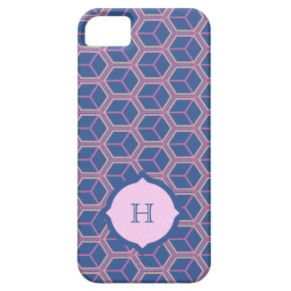 Dark Blue and Pink Cubes Iphone 5 case