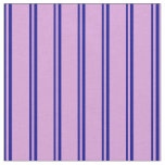 [ Thumbnail: Dark Blue and Plum Colored Stripes Fabric ]