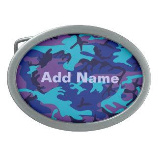 Dark Blue and Purple Camouflage Belt Buckle