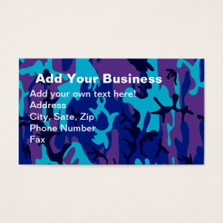 Dark Blue and Purple Camouflage Business Card