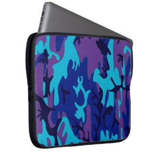 Dark Blue and Purple Camouflage Computer Sleeve